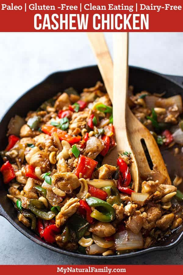 20-Minute Paleo Cashew Chicken #chickenrecipes
