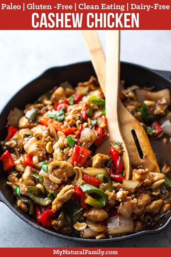 20-Minute Paleo Cashew Chicken #chickenrecipes