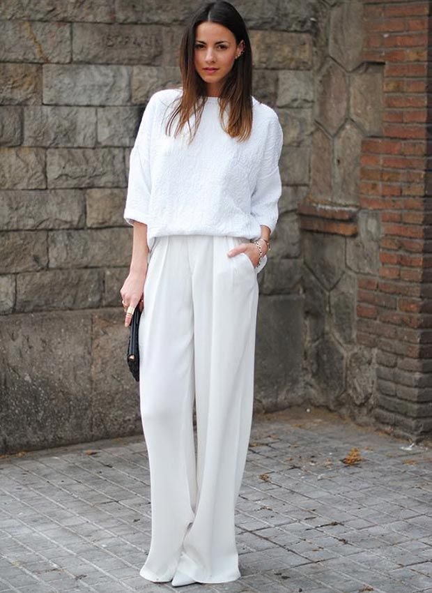 1644b93ceff71 30 Fashionable All White Outfits for Any Season