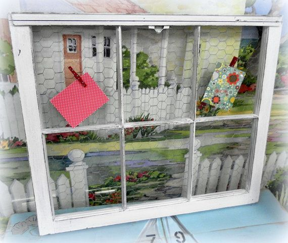 Repurposed And Upcycled Farmhouse Style Diy Projects: Upcycled Repurposed Vintage Window Bulletin Memo Message