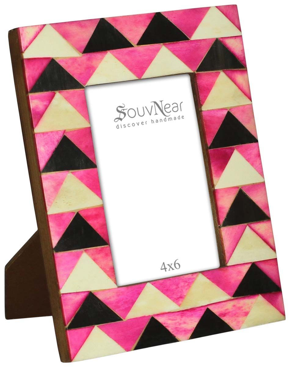 Bulk Buy 35x5 Inches Pink Black And Pale White Picture Frame