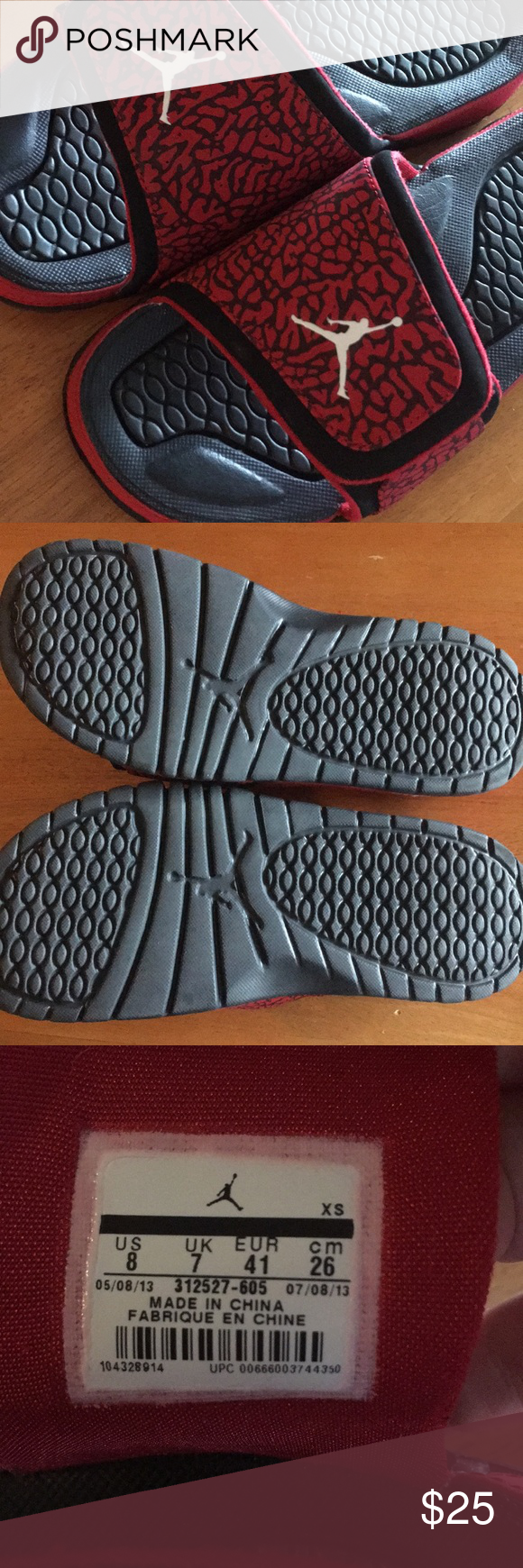 138e2d55cec70 Excellent condition! Bottoms barely show any signs of being worn. I am a  women s size 9.5 10and these fit me well. Jordan Shoes Sandals