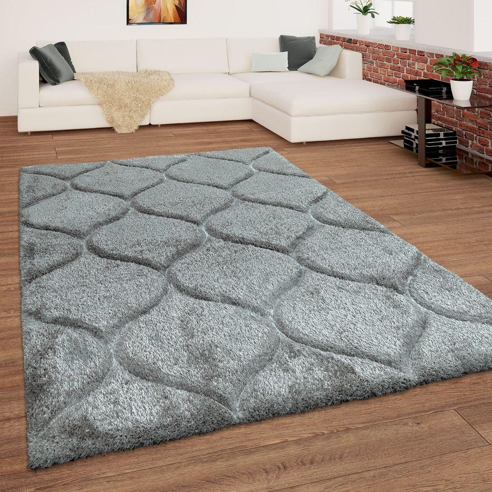 Shaggy Teppich Hochflor Wellen Muster Teppich Shaggy Teppich Teppich Grau