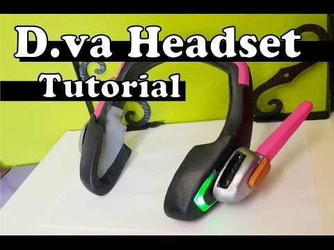 d3e7aec13c2 ''D.va Headset'' with LED's (FREE PATTERN) - Overwatch Cosplay Tutorial -  YouTube. ''
