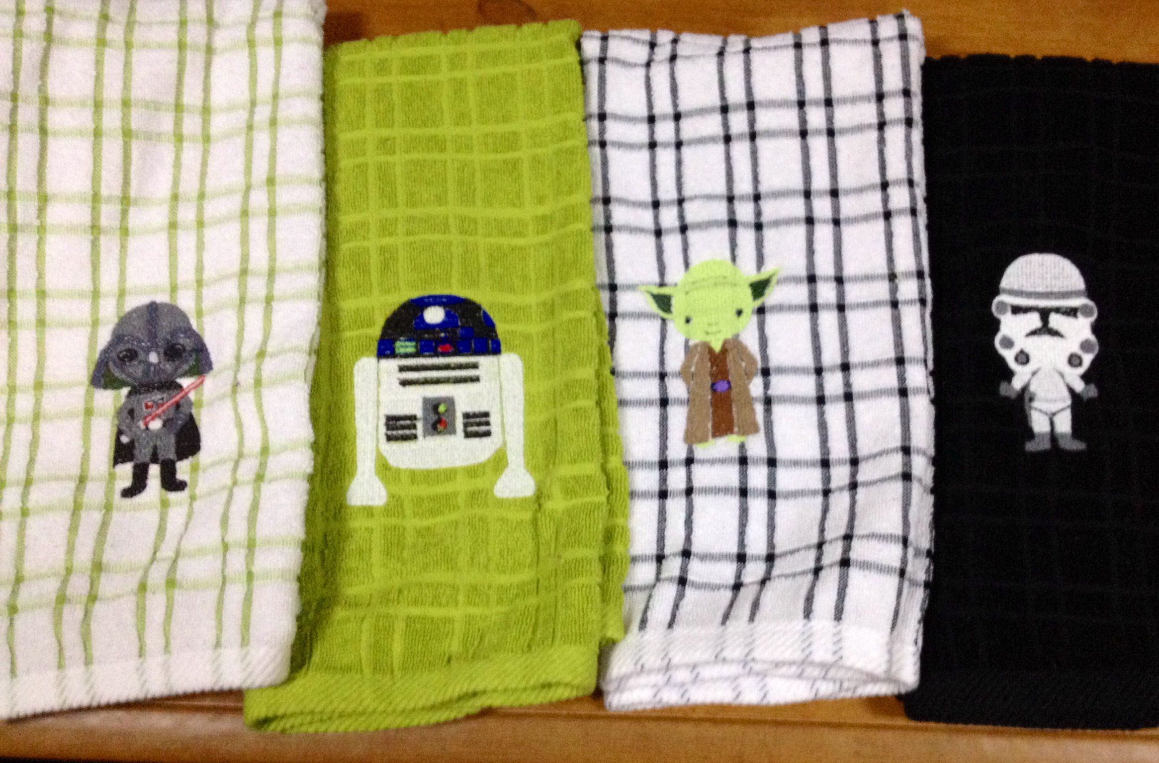 More Star Wars Dish Towels Embroidery Projects By Me