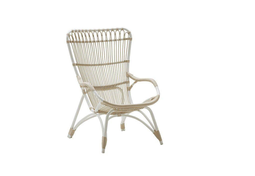 Chair taupe lounge chair outdoor rattan lounge
