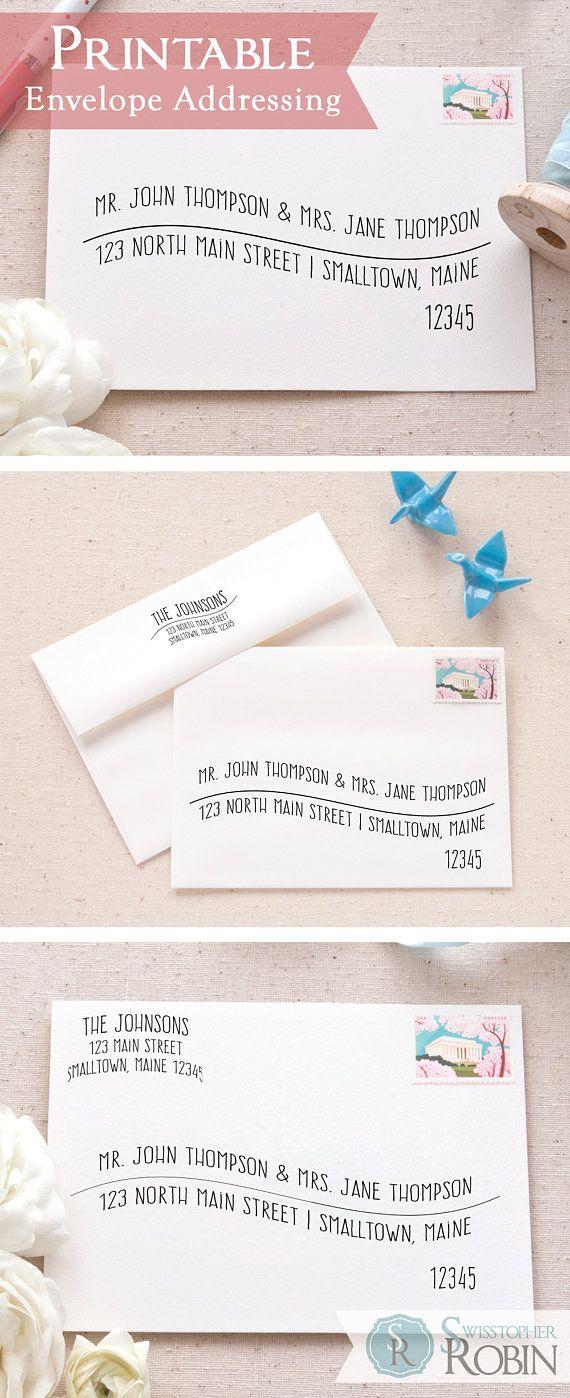 Casual Wave Envelope Address Bundle | Printable Envelope Addressing ...