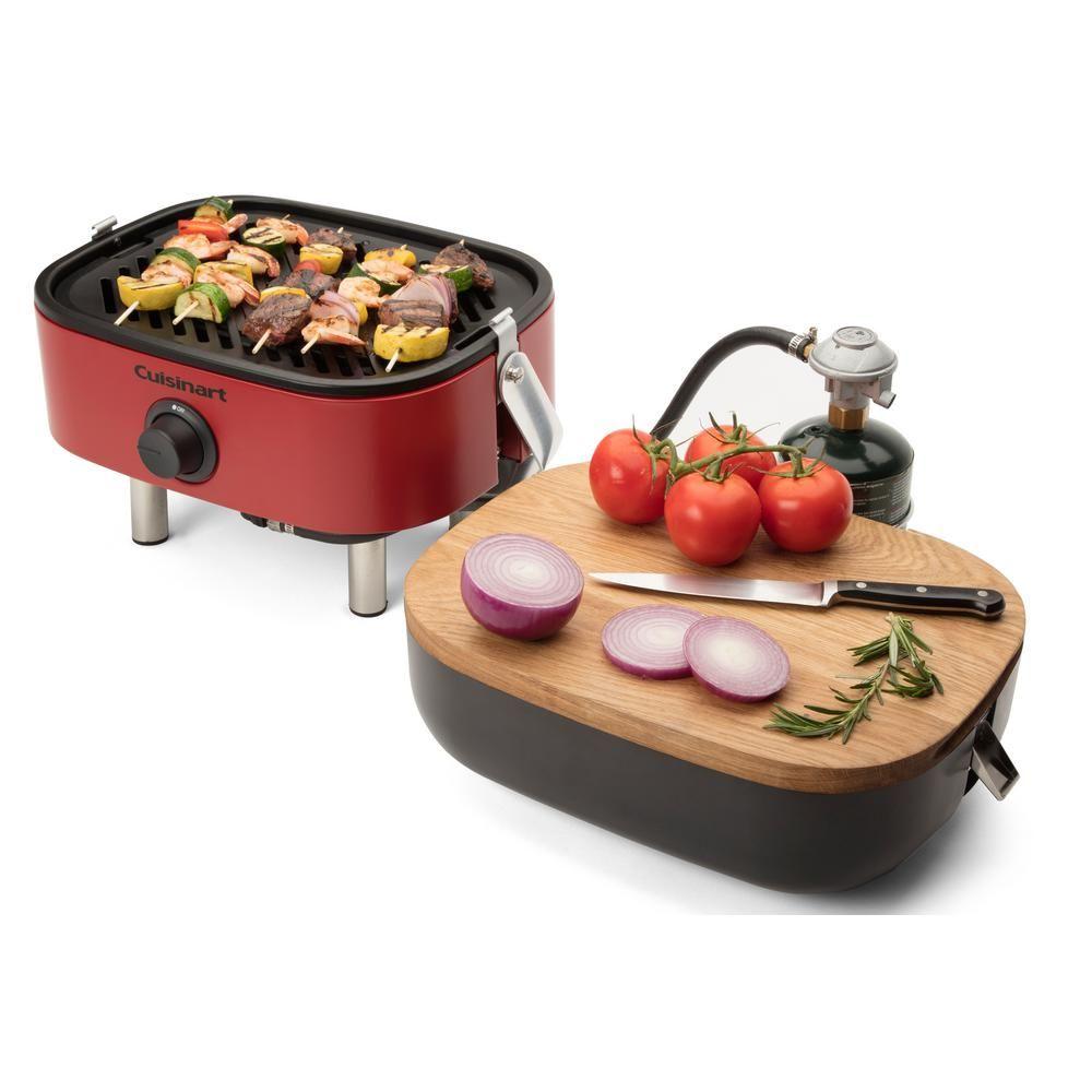 Cuisinart Venture Portable Propane Gas Grill In Red Cgg 750 With Images Propane Gas Grill Gas Grill Camping Grill
