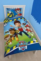 PAW PATROL ~ 'Rescue' Single Bed Reversible Panel Quilt Set | Little Gecko