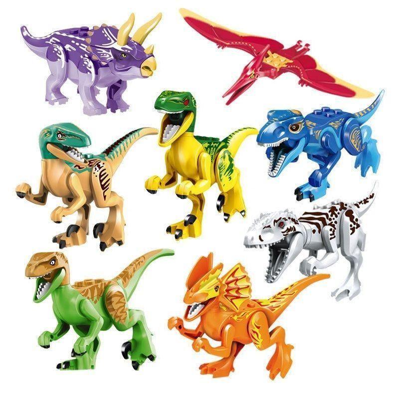 Jurassic World Park Dinosaur Set T-Rex Indominus rex Dilophosaurus ...