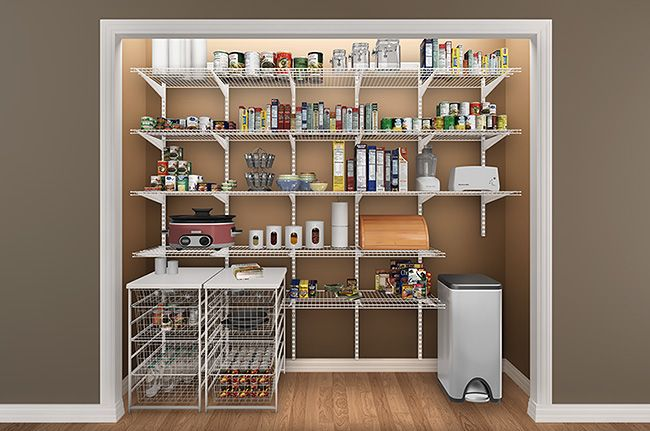 Genial Pantry Organization Ideas Custom Closetmaid Wire Shelves Containters