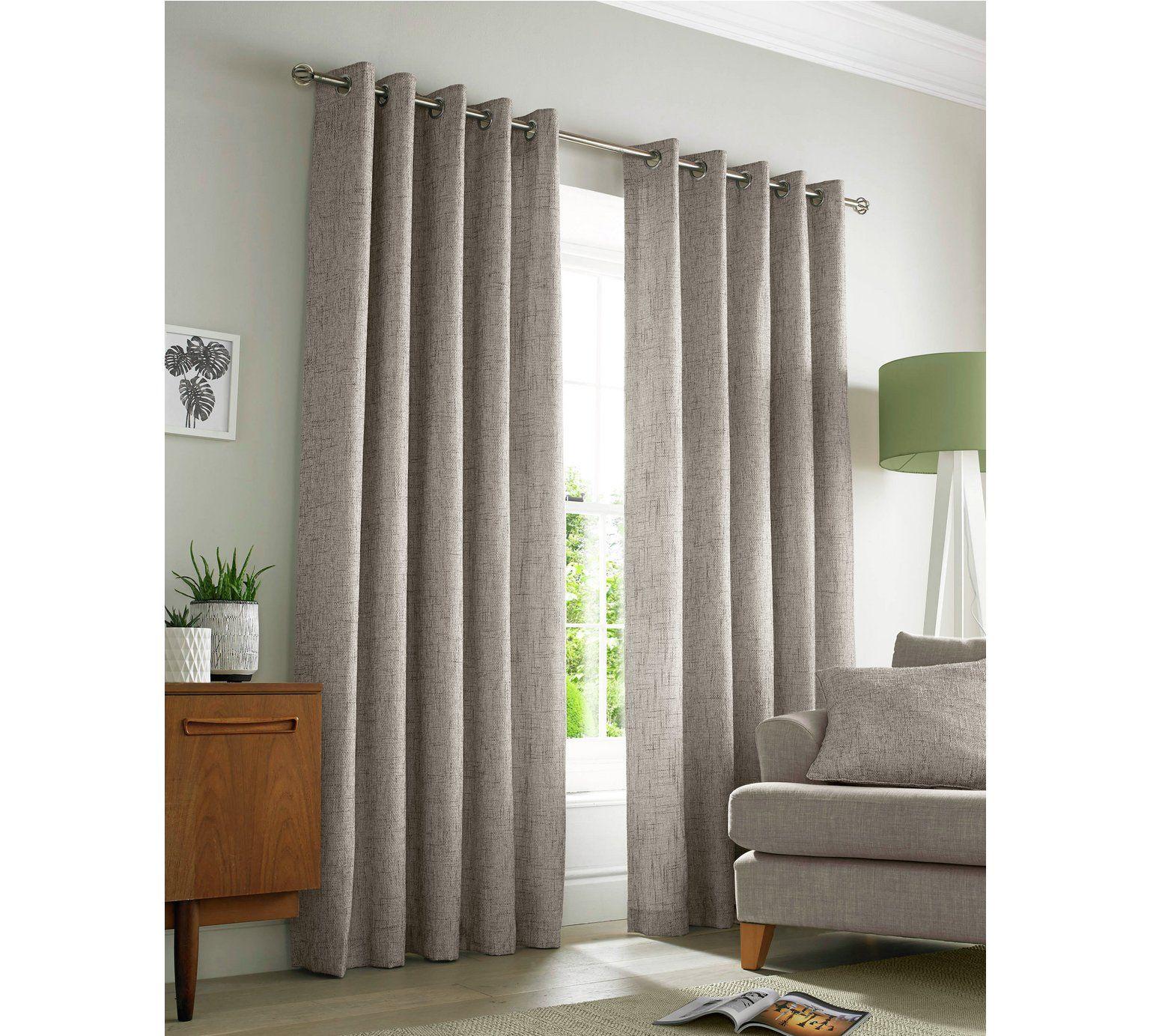 Buy Academy Eyelet Curtains - 229x183cm - Natural at Argos.co.uk ...