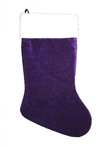 velvet purple christmas stocking - Purple Christmas Stocking