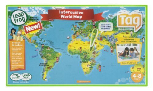 Leapfrog tag maps world gifts for my wide eyed littles leapfrog tag maps world map activitieselectronic toysinteractive gumiabroncs Gallery