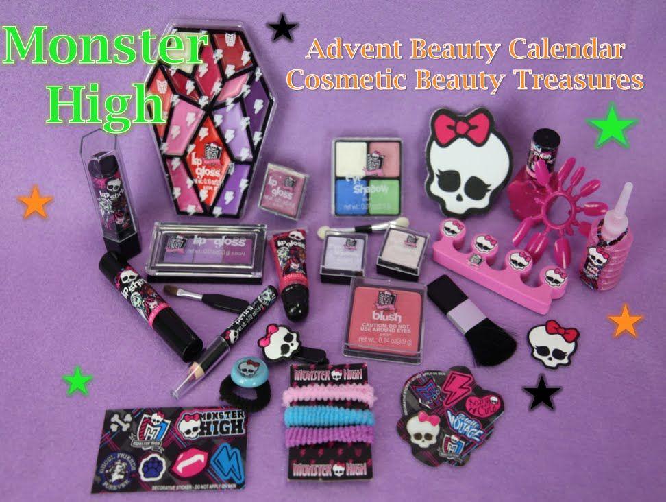 Monster High: Advent Beauty Calendar Cosmetic Beauty Treasures ...