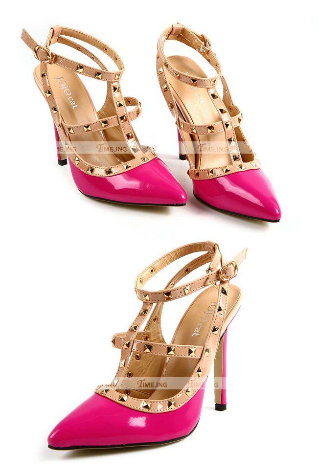 Rockstud Negro Zapatos Beige Beige Color Estilo Y Negro Valentino qEOCO1x8w