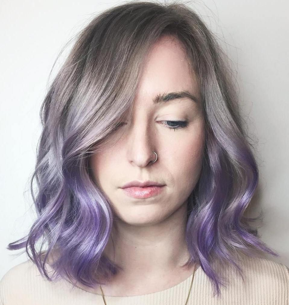 cool ideas of lavender ombre hair and purple ombre