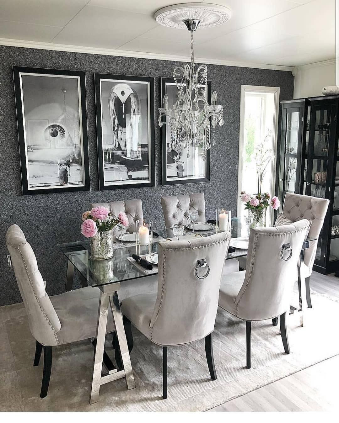 Home Decor Inspiration On Instagram How Gorgeous Is This Dining Room Follow Inspirationbyblan Grey Dining Room Dining Room Design Dinning Room Decor