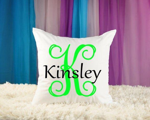 Girls Personalized Pillow - Custom Name - Teen Room -  Baby Pillow - Monogram - Kid Pillow  Child Pi
