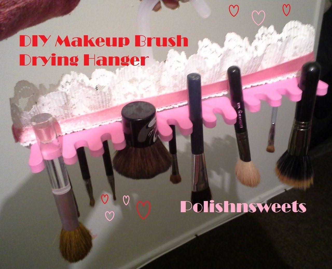 DIY Makeup Brush Drying Hanger Makeup Brush Drying
