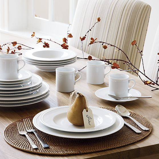 Staccato 20 Piece Dinnerware Set In Top Crate And Barrel