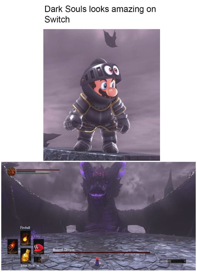 Dark Souls On Switch Looks Great Dark Souls Funny Dark Souls Art Dark Souls