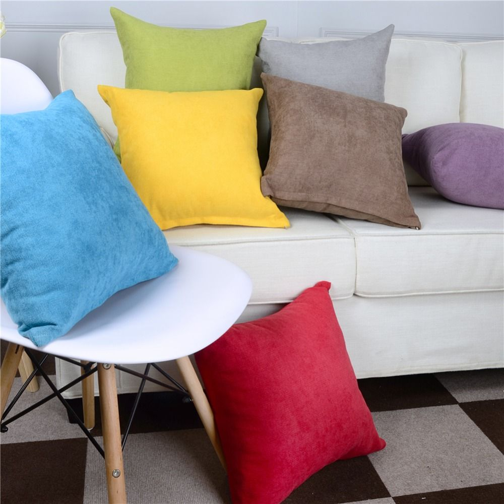 Topfinel Cotton Linen Solid Color Decorative Throw Pillows Cases Cushions Covers For Sofa Home Office Chair 10 45x45 Cm Yesterday S Price Us 14 99