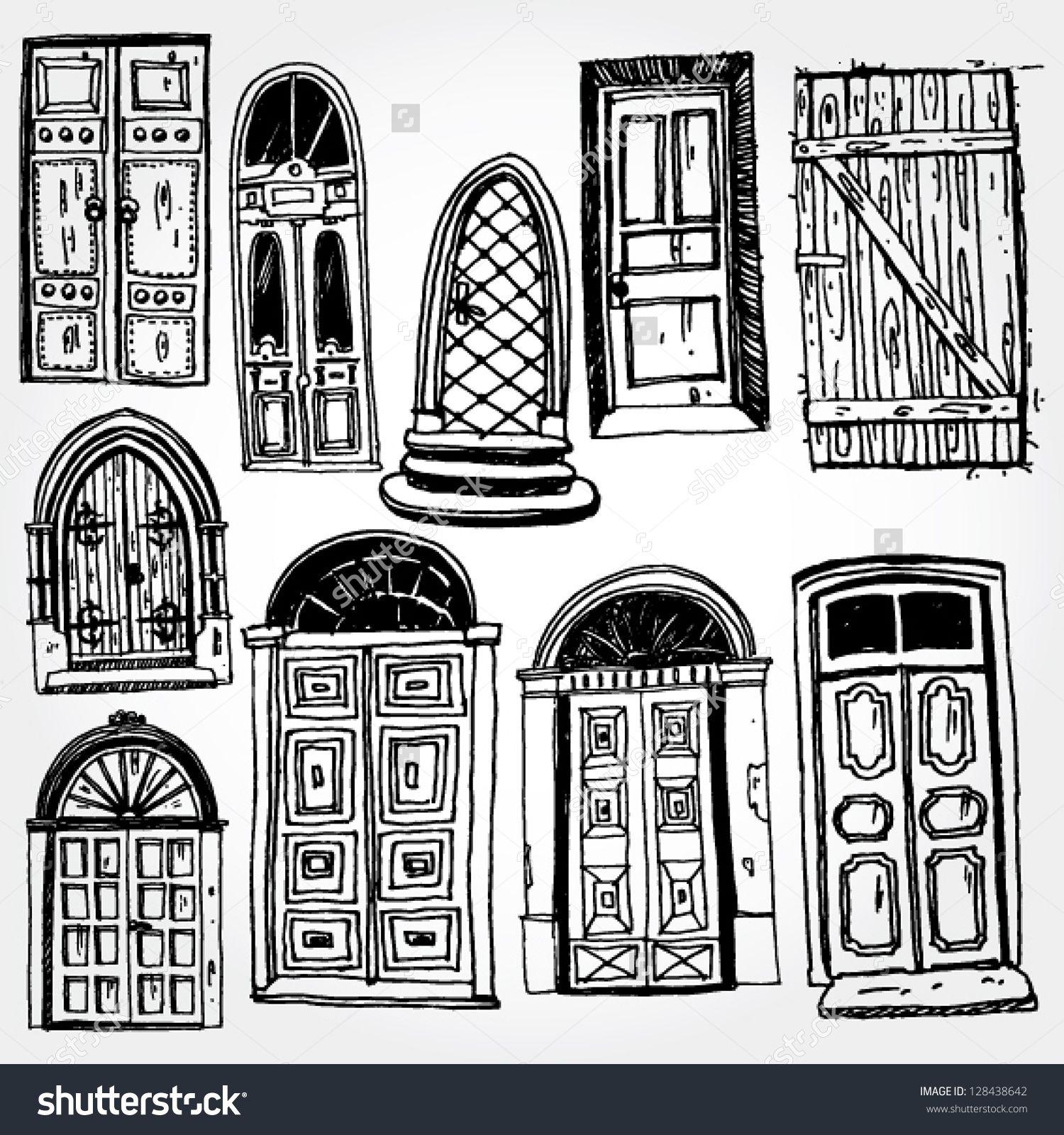 Old Door Stock Vectors & Vector Clip Art | Shutterstock