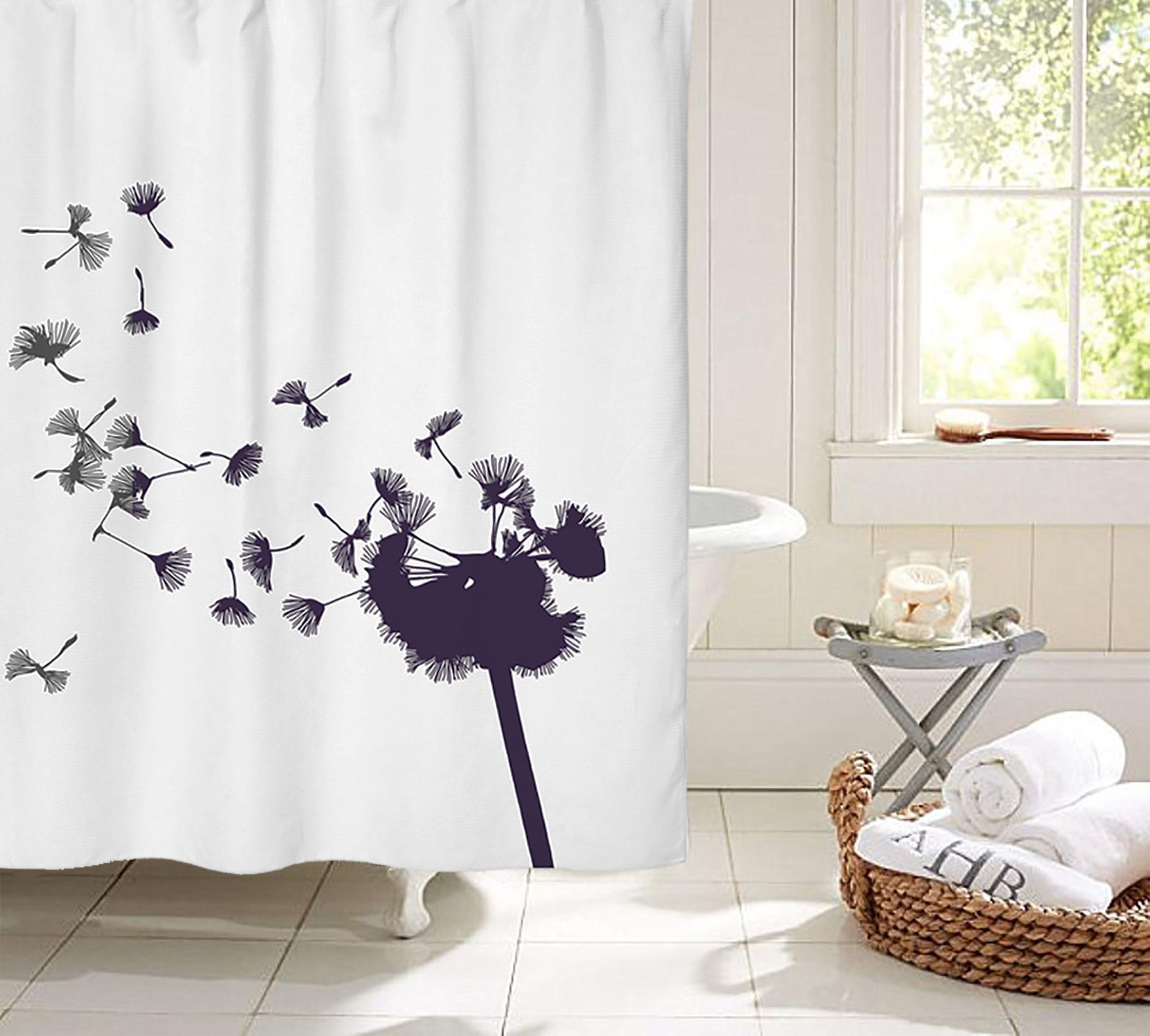 Decorate your bathroom with this beautiful dandelion shower curtain. Price 42,7€ Dekorer dit badeværelse med dette smukke mælkebøtte badeforhæng. Pris 295,-