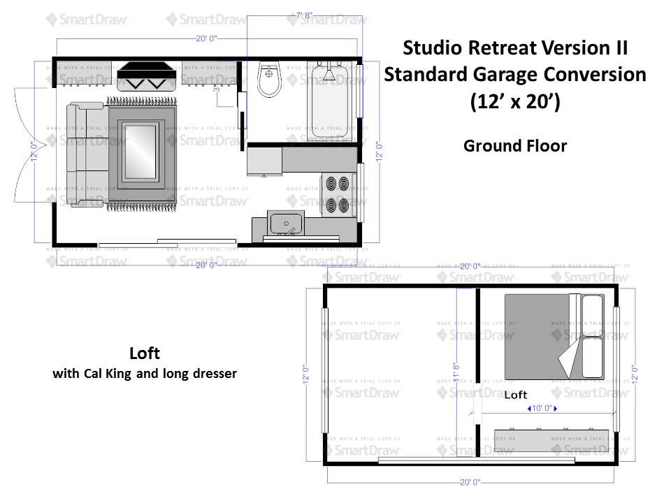 Alternative Layout For Our X Garage Conversion To A Tiny