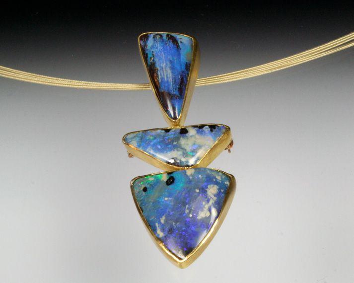 Sam Shaw Jewelry Stacking opal pendant