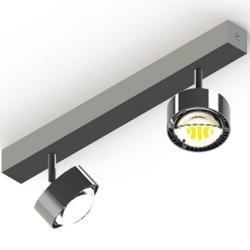 Photo of Top Light Puk Maxx Choice Turn ceiling lamp 2 heads anthracite-chrome 45cm standard version Top Light