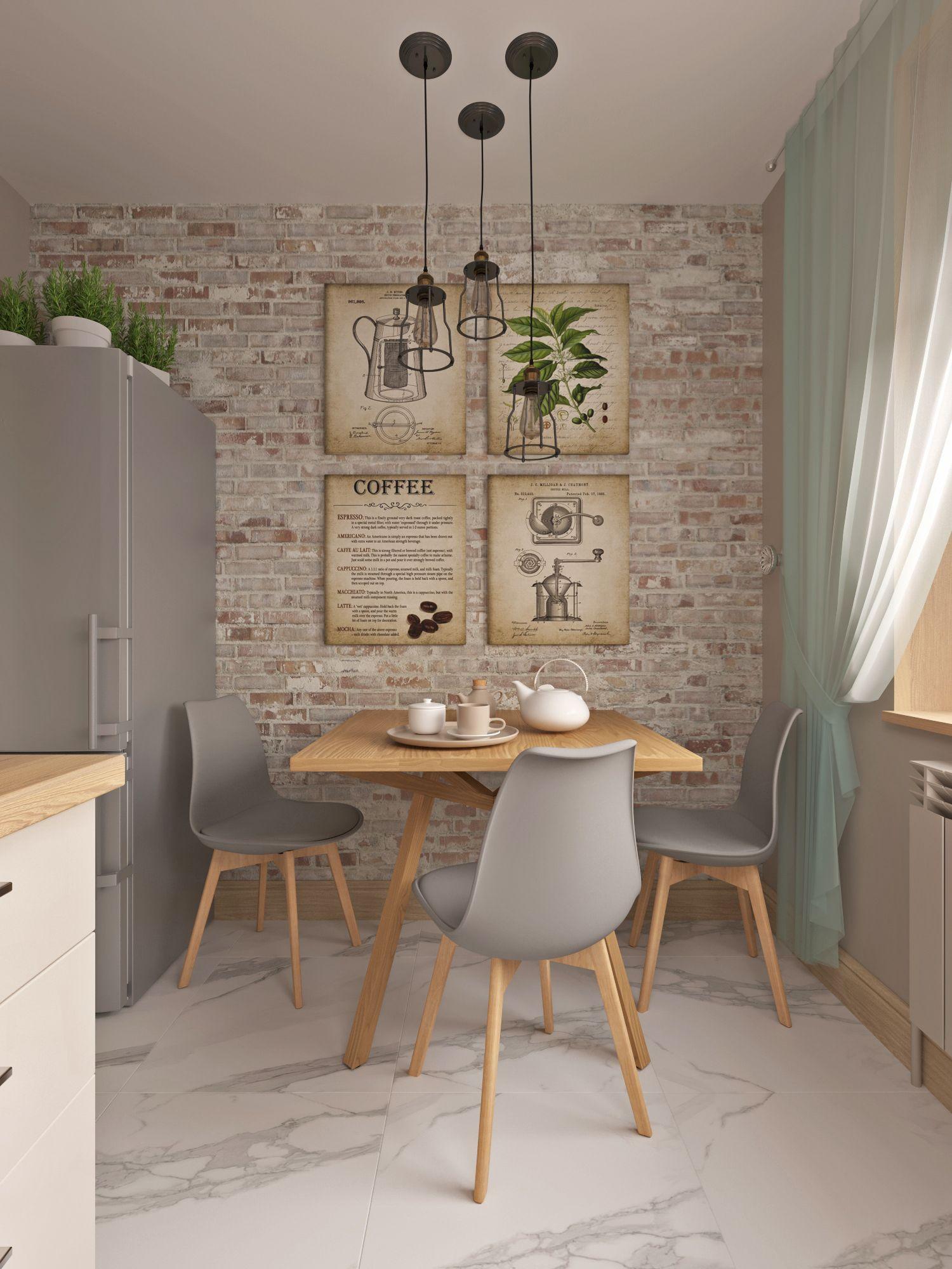 Трехкомнатная квартира в скандинавском стиле с маленьким санузлом