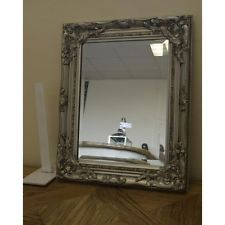 Shabby Chic French Mirror Vintage Home Decor Painted Frame Antique Style Silver
