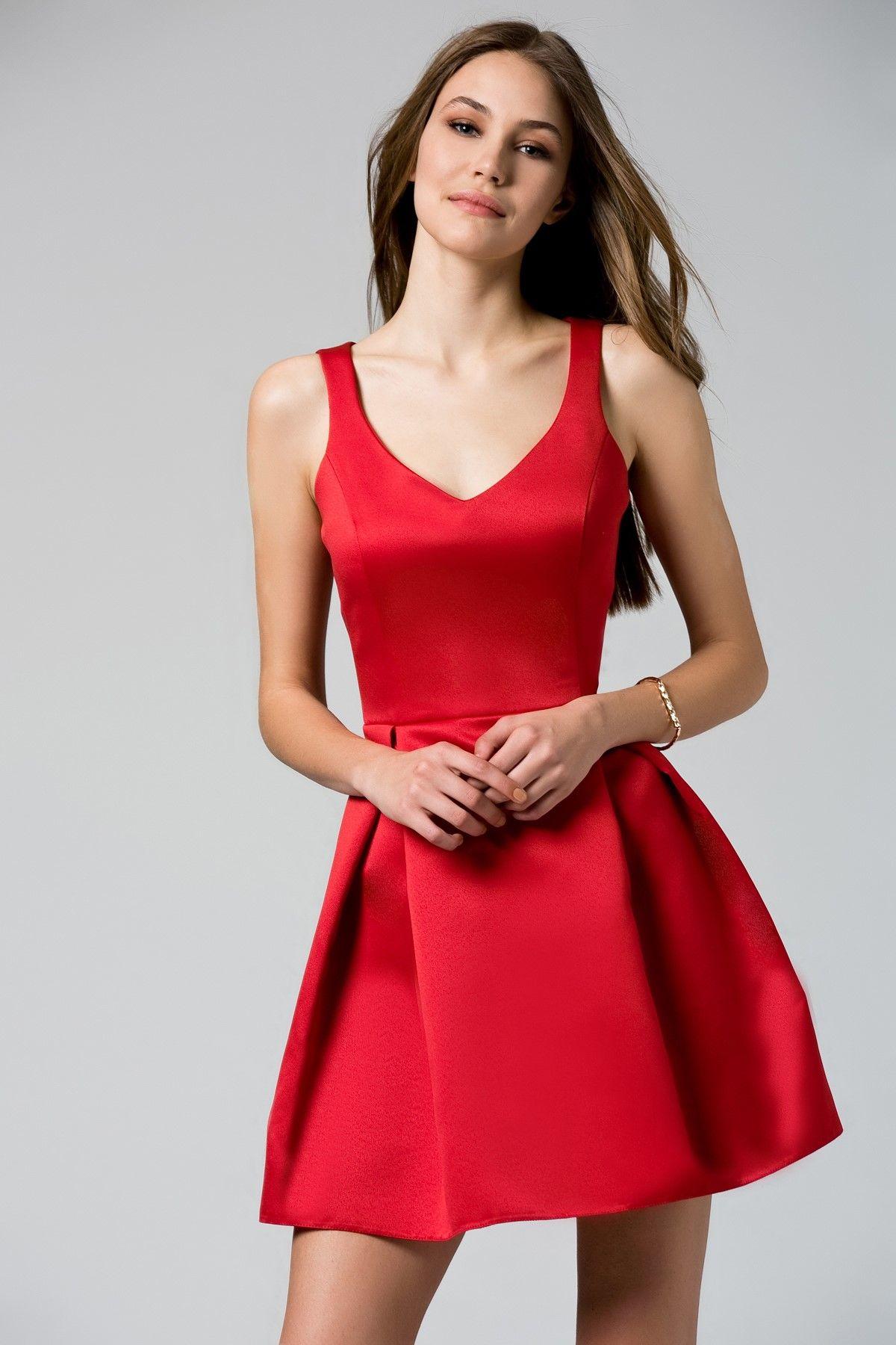 Saten Kirmizi Elbise Trendyolmilla Trendyol Elbise Elbise Modelleri Mini Elbiseler