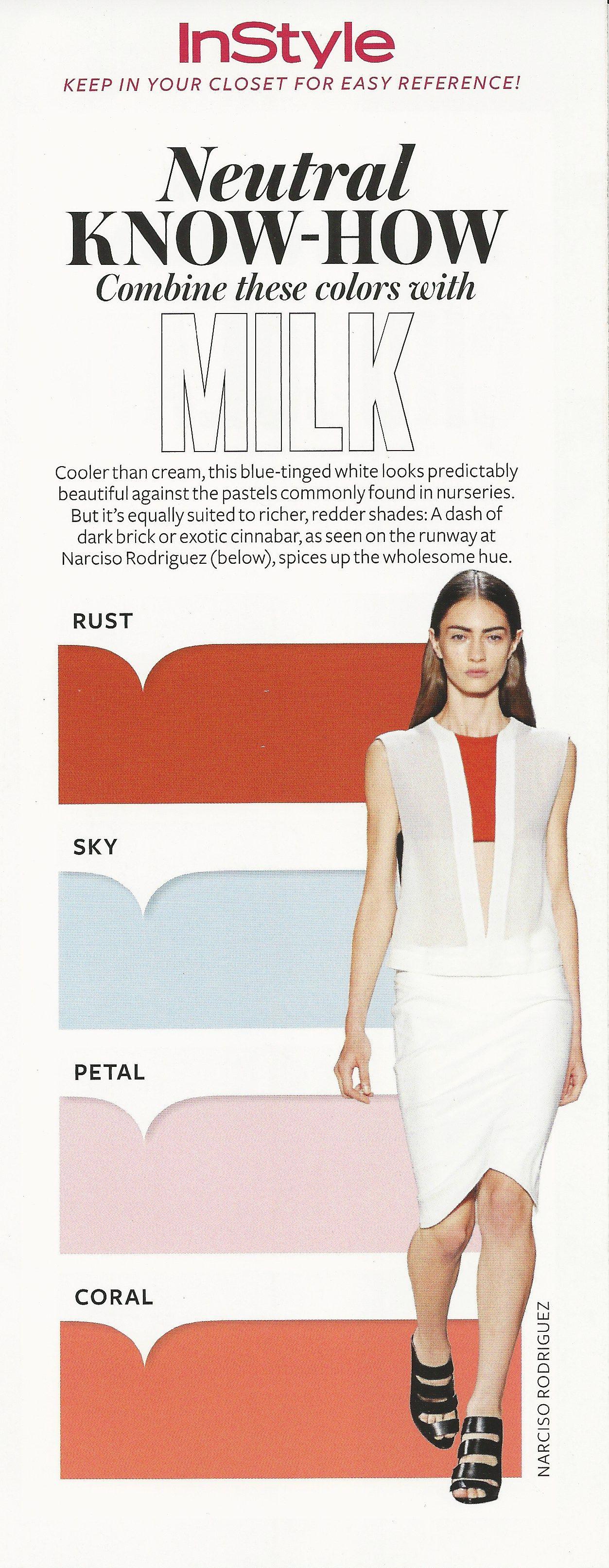 Neutral Know-How: Milk #instyle   Combinação de cores, Cores, Roupas