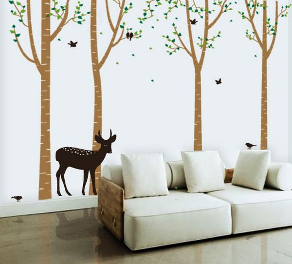 Living Room Forest Wall Decals Forest Animals Wall Decals Decoration Ideas