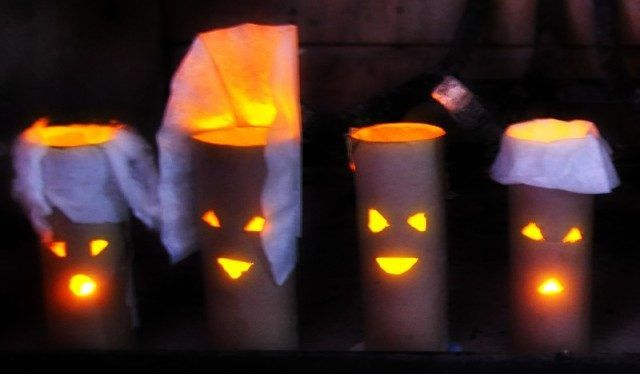 Halloween Crafts Using Toilet Paper Rolls Spooky Jack O Lanterns