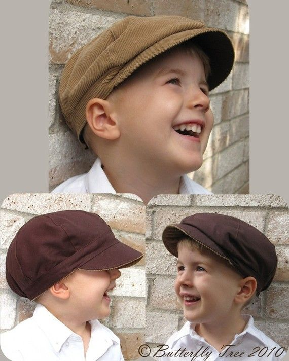 6c609b7a53e Newsboy Hat Sewing Pattern - Reversible Unisex Infant and Child ...