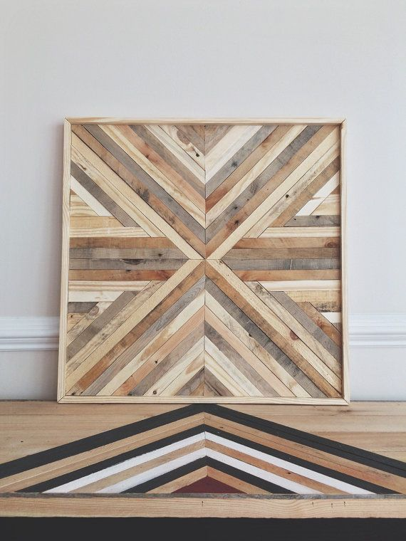 This wall hanging piece is completely handcrafted. Each piece of ...