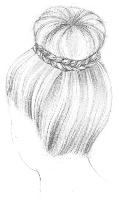 comment dessiner des cheveux en chignon prot ger mes. Black Bedroom Furniture Sets. Home Design Ideas