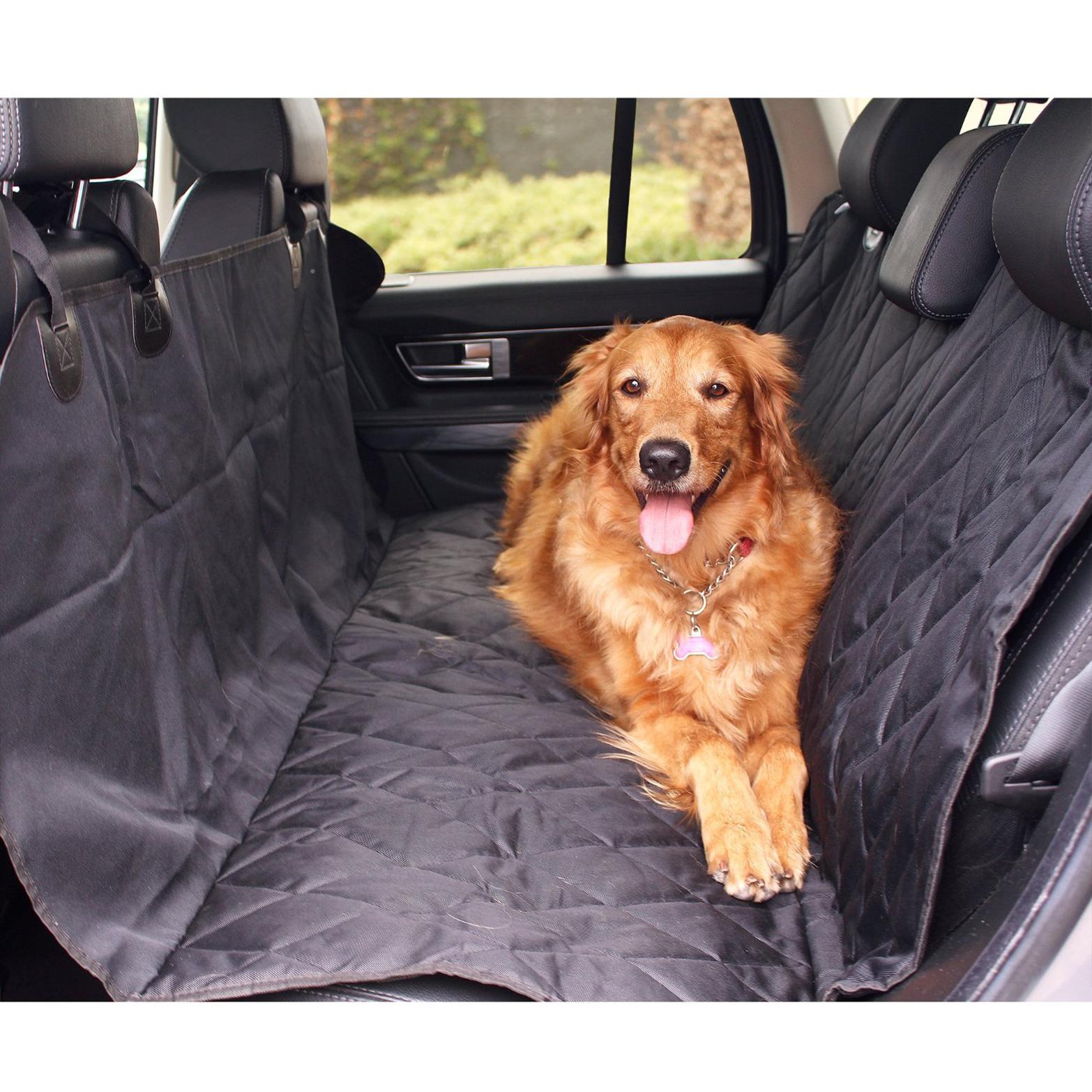 Black Rear Car Seat Mud Hair Protector Cover Dog Pet Dirt Scratch Proof Hammock