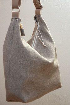 Photo of Plastic, vegan linen bag, handmade in Germany. Bag made of linen
