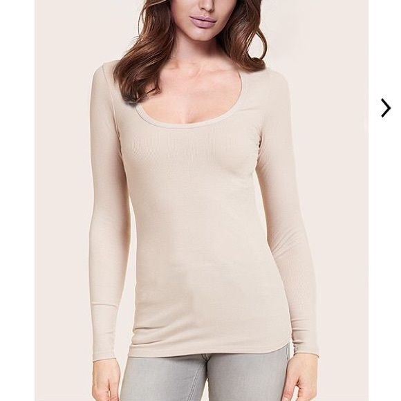 INTIMISSIMI MODAL LONG SLEEVE SQUARE NECK TOP S Great condition, worn only once!! Long sleeve square neck top made of stretch modal. This comfortable garment is perfect to wear under a jacket. MAIN FABRIC:  93 % Modal  7 % Elastane Intimissimi Tops Tees - Long Sleeve