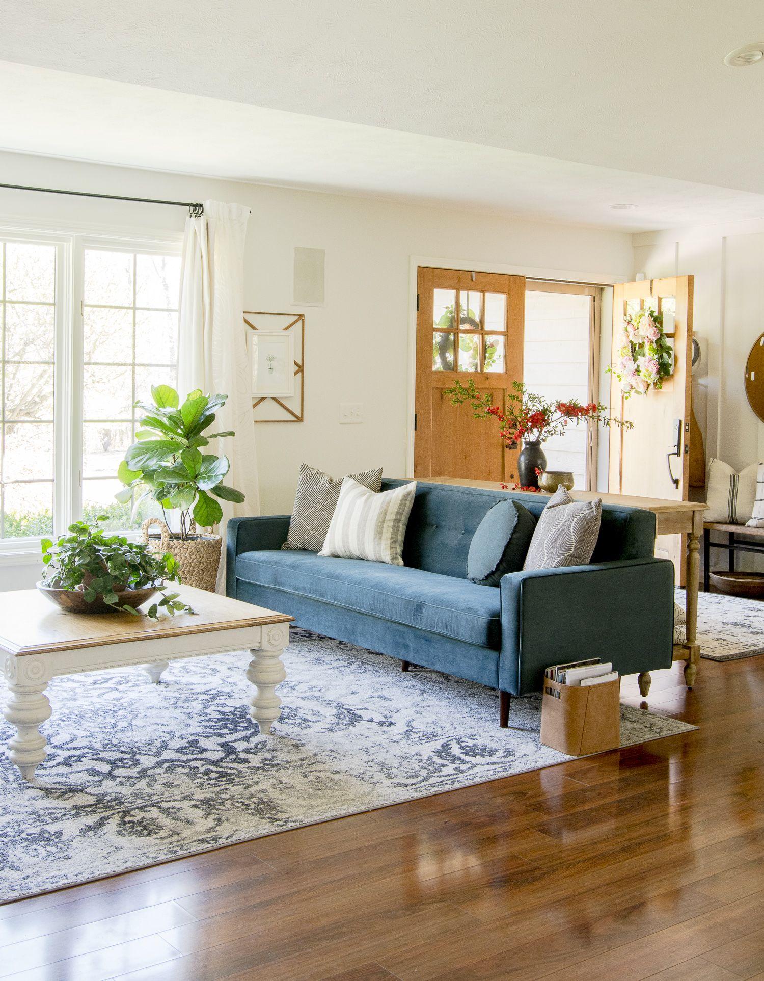 Modern Bohemian Style Summer Living Room Tour In 2020 Summer Living Room Modern Vintage Decor Modern Boho Living Room #simple #boho #living #room