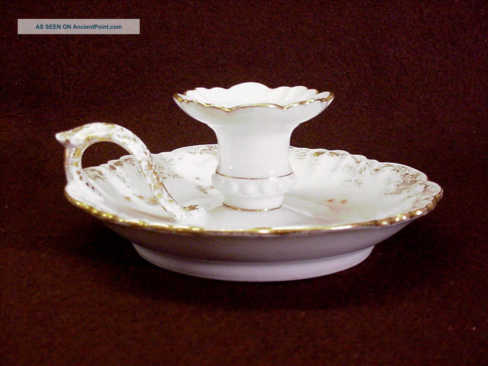 limoges candlestick holders | ... Limoges Porcelain Finger Chamber Candle Holder C 1891 Candlesticks