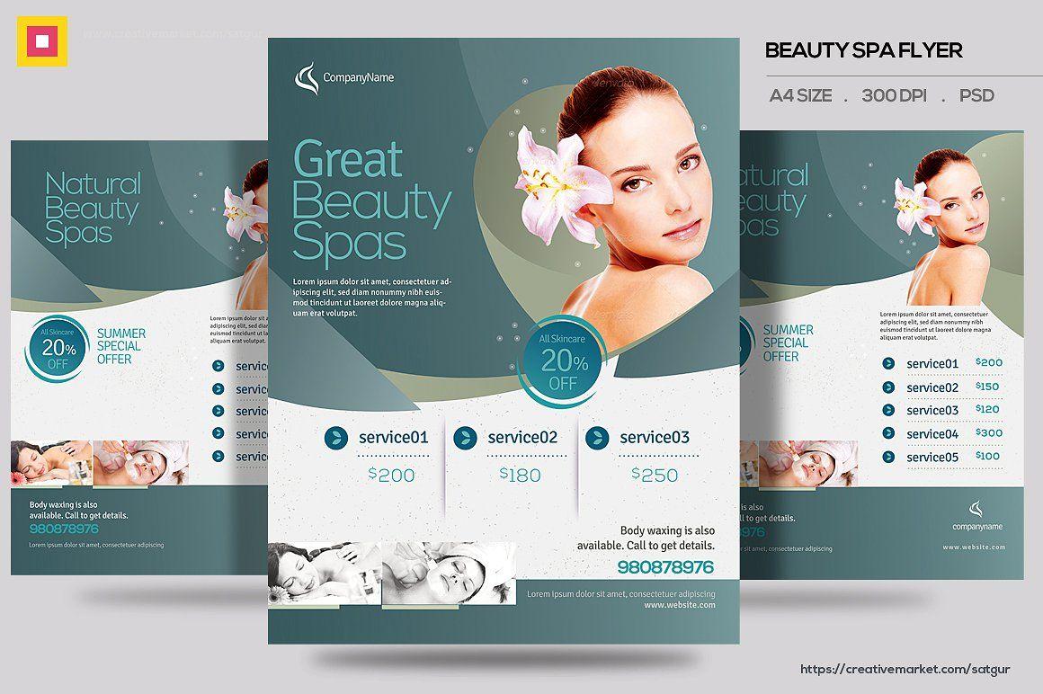 beauty spa promotion flyer