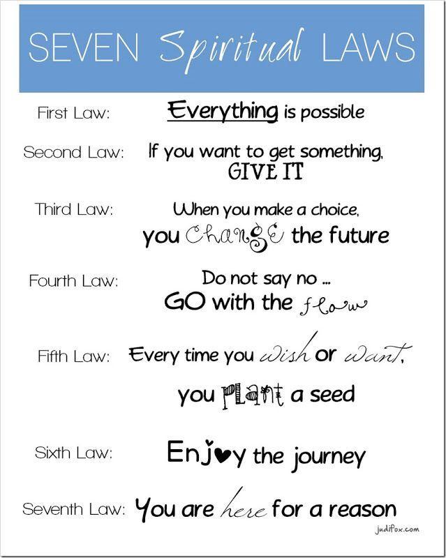 Seven Spiritual Laws for Parents by Deepak Chopra - Free Printable