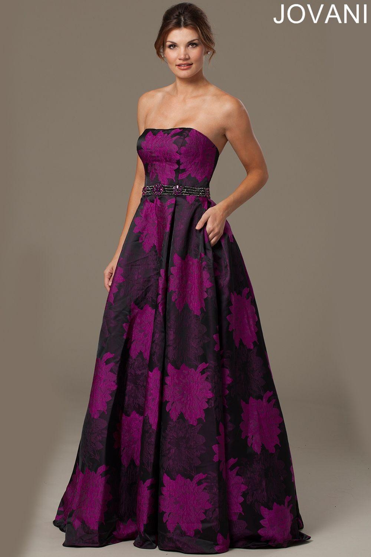 Purple print long dress evening dresses banquet gown ideas