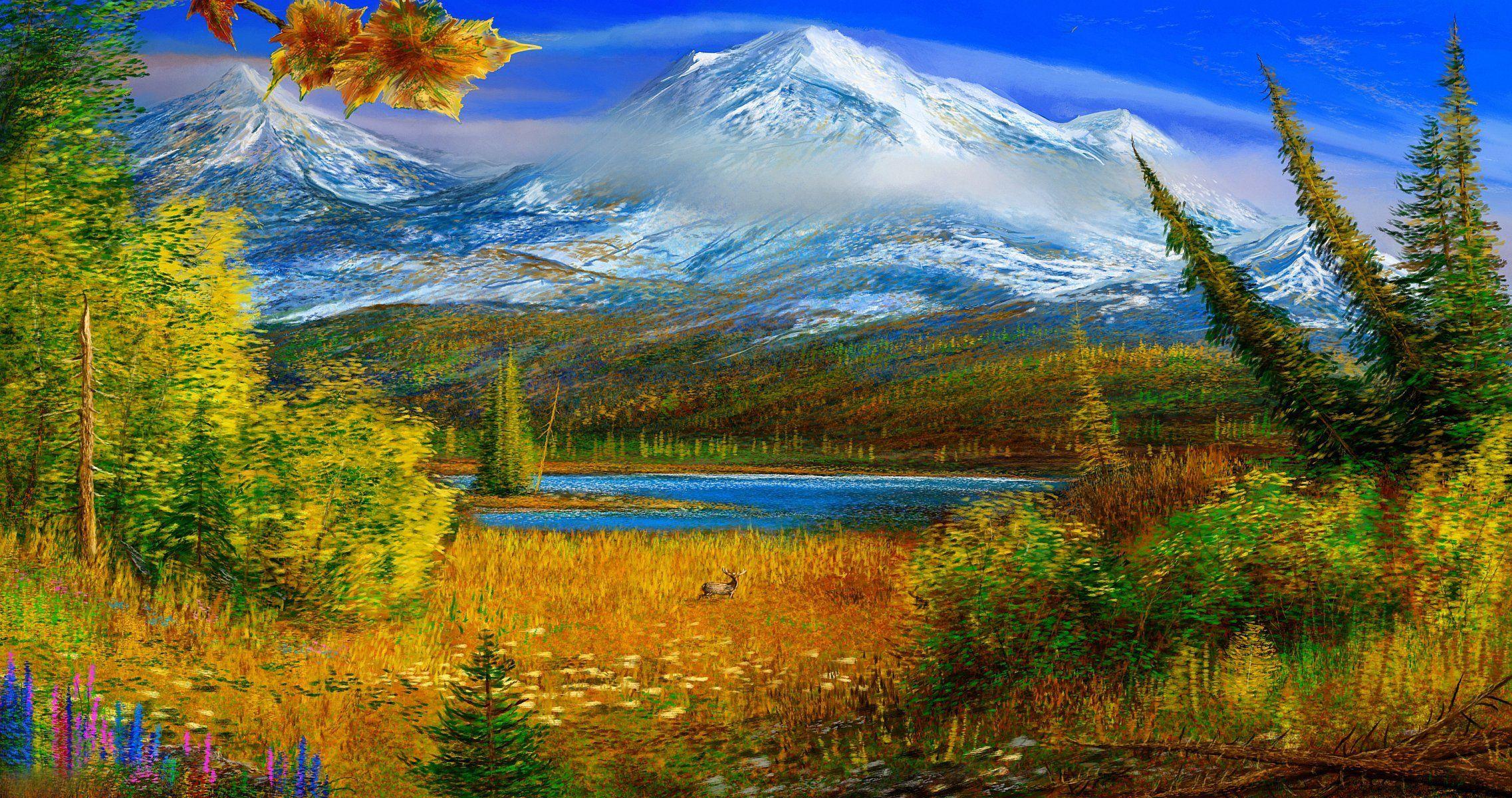 alaska autumn mountain pattern HD wallpaper Autumn